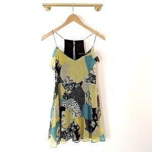 Zara Patchwork Pattern Mini Slip Dress - Sz XS